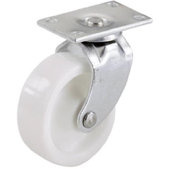 19041 2 in. Plastic Wheel Plate Caster, White - 2 Pack - image 1 de 1
