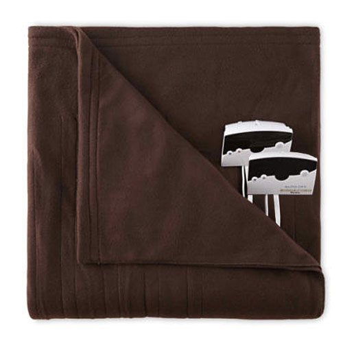Biddeford 1004-9052106-711 Fleece Electric Heated Blanket King Chocolate