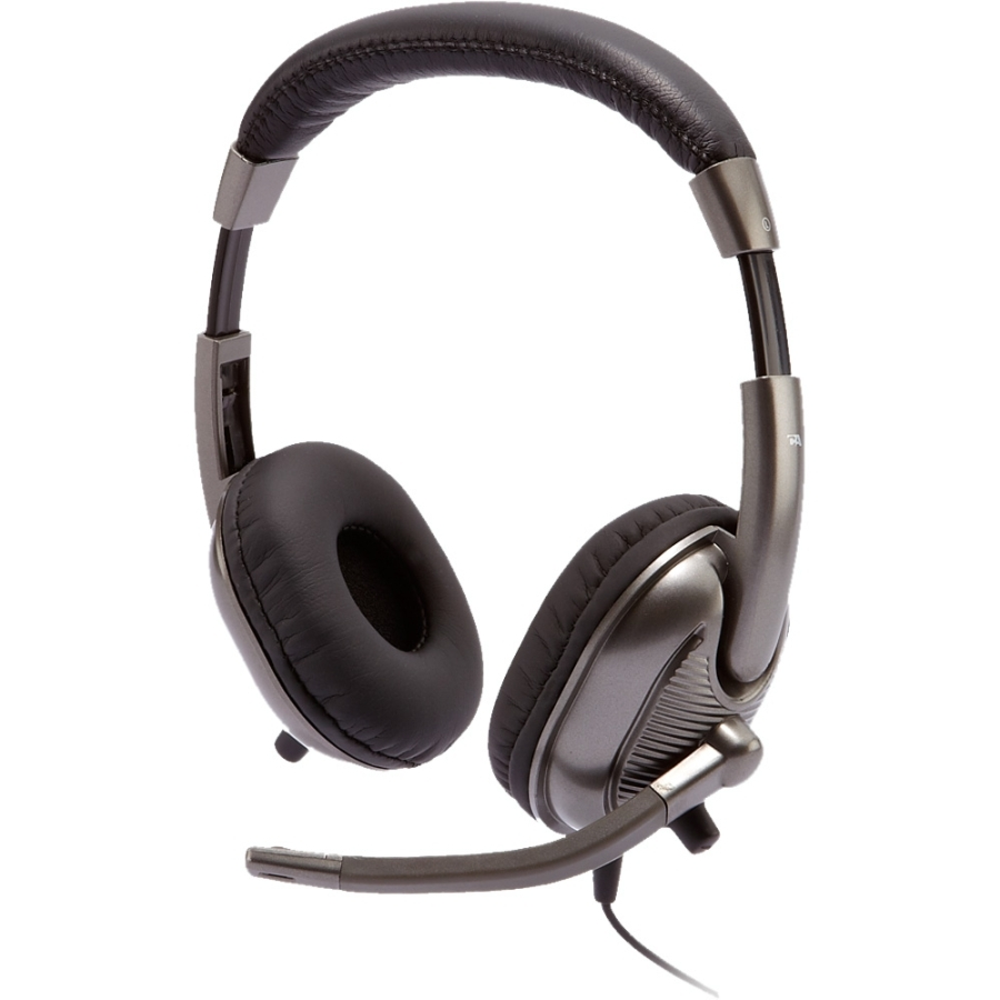 Cyber Acoustics AC-8000 Headset - Stereo - Mini-phone - Wired - 20 Hz - 20 kHz - Gold Plated - Over-the-head - Binaural - Semi-open - 9 ft Cable