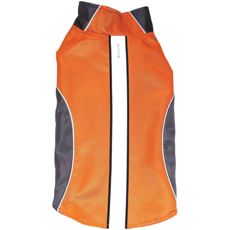 Royal Animal Water-Resistant Dog Raincoat with Reflective Stripes, Orange