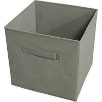 Achim Collapsible Storage Bins, Pack 4, Gray