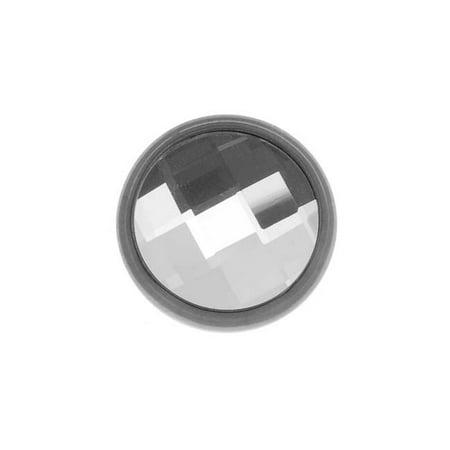 SWAROVSKI ELEMENTS Gun Metal Tone Chessboard Crystal Decorative Button 11mm (Crystal Gun)