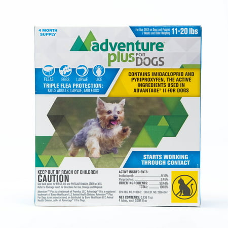 Adventure Plus Flea prevention for Small Dogs, 11-20 lbs. 4 Months