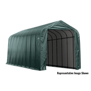 15' x 28' x 12' Peak Style Shelter, Green