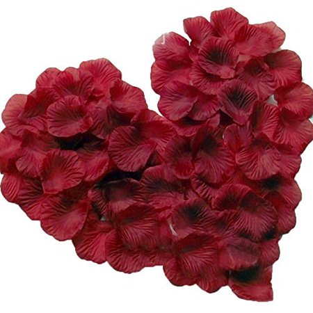 Magik 1000~5000 Pcs Silk Flower Rose Petals Wedding Party Pasty Tabel Decorations, Various Choices (1000, - Silk Red Roses
