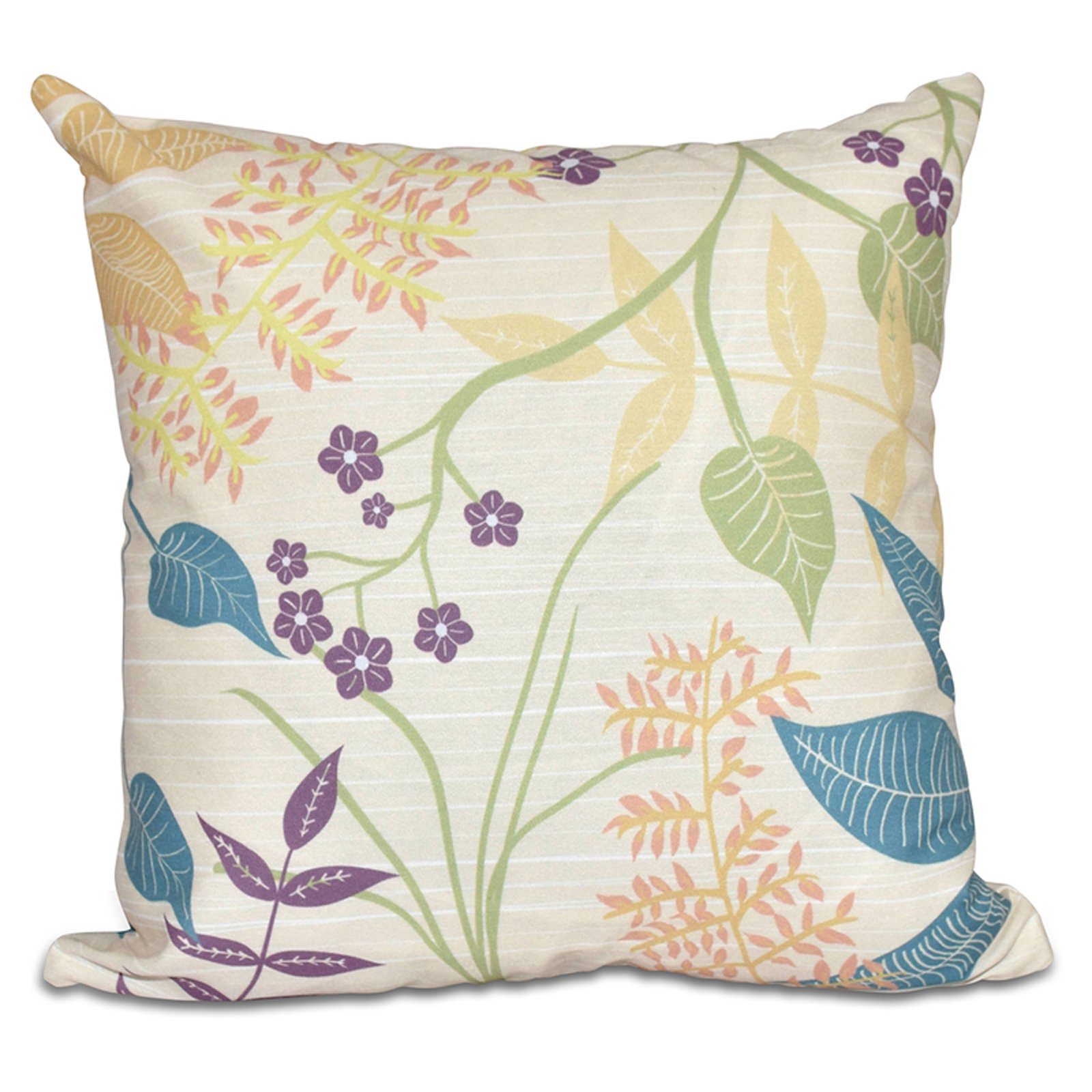 E by Design Botanical Blooms Botanical Decorative Pillow