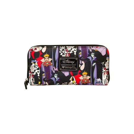 Zipped Compact Wallet - Disney Villains Zip Around Wallet - ST