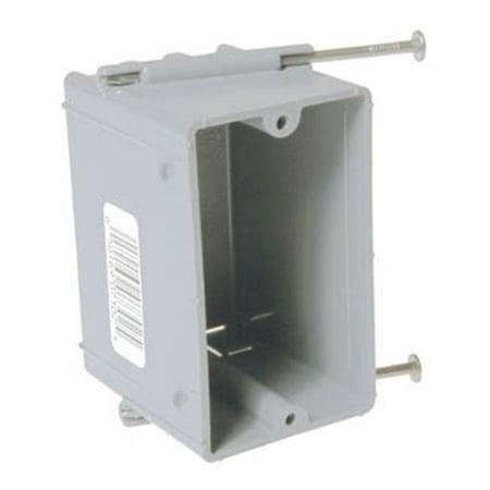 Hubbel Electric Raco Single Gang Cable Box With Captive Nails (Single Gang Box)