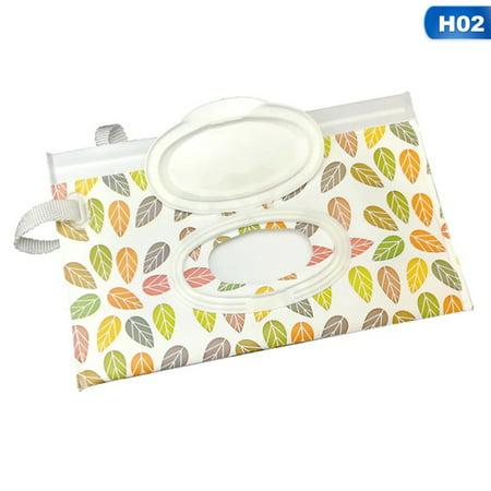 AkoaDa 1x Baby Wipes Travel Carrying Case Holder Dispenser Wet Wipe Bag New Gift (Nursery Baby Wipe Case)