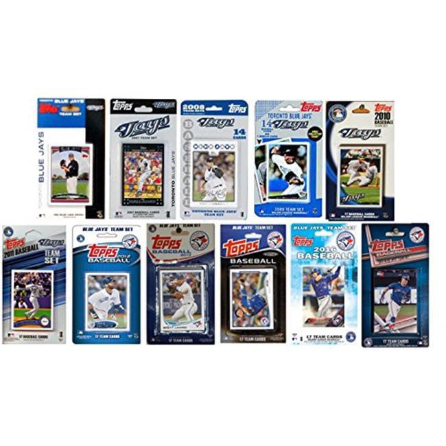 C & I Collectables JAYS1117TS MLB Toronto Blue Jays 11 Different Licensed Trading Card Team Sets - image 1 de 1