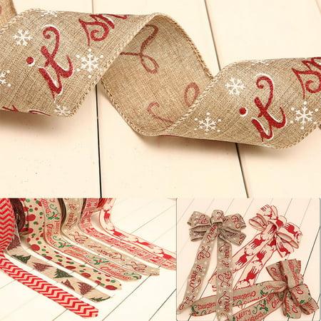 5 Pcs Christmas Ribbon Burlap Ribbon Diy Linen Roll Wrapping Decorations Burlap Fabric Craft Ribbon Walmart Canada