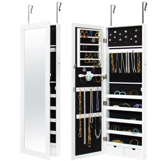 Best Choice Products Mirrored Hanging Jewelry Cabinet