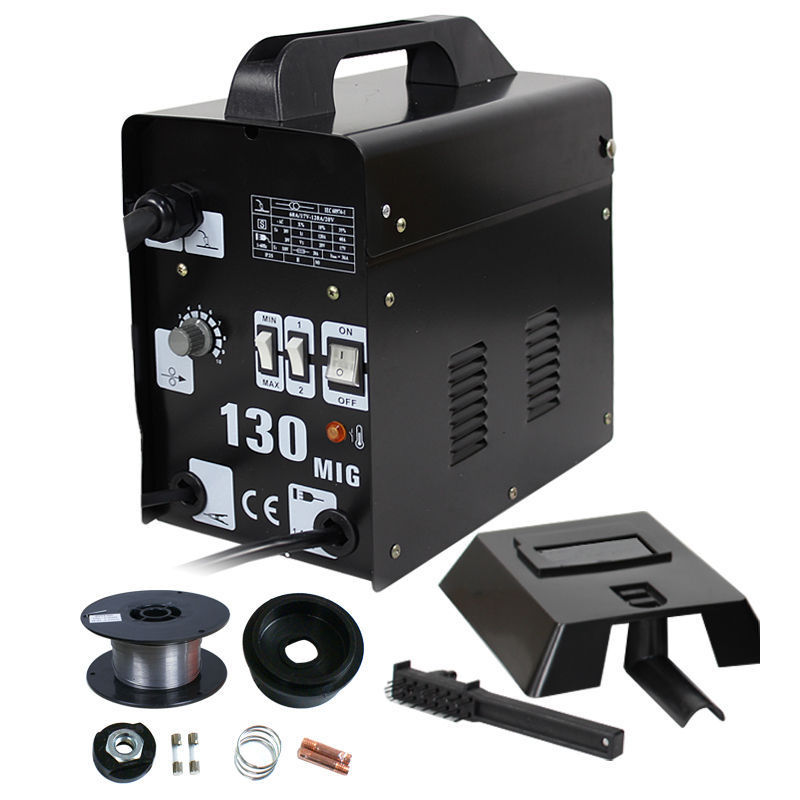 Ktaxon MIG 130 Electric Gas-Less Welder Flux Core Wire Automatic Feed Soldering Welding Machine Equipment with Free Mask, AC 110V