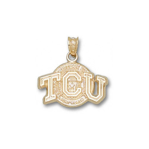 NCAA - TCU Horned Frogs 10K Gold ''TCU'' Texas Seal Pendant