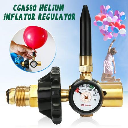 Helium Latex Balloon Air Inflator Regulator With Gauge For G5/8 Tank (Cp Compressed Air Tank Regulator)