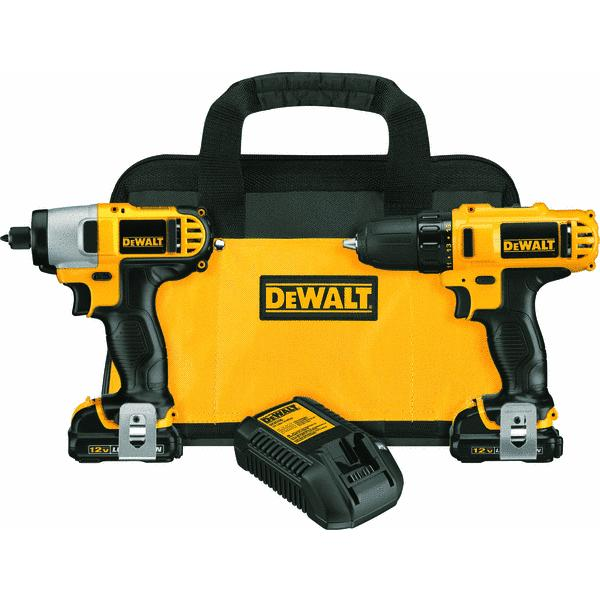 DeWalt 12V MAX Lithium-Ion Drill and Impact Cordless Tool Combo Kit