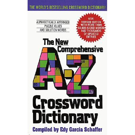 New Comprehensive A-Z Crossword Dictionary - Halloween Crossword Puzzles Answer