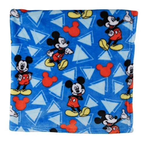 Disney Mickey Mouse Super Soft Fleece Blanket, Blue