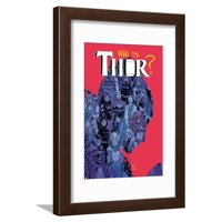 Thor No. 6 Cover, Featuring: Captain Marvel, Loki, Angela, Valkyrie, Frigg, Sif, Enchantress Framed Print Wall Art By Russell Dauterman