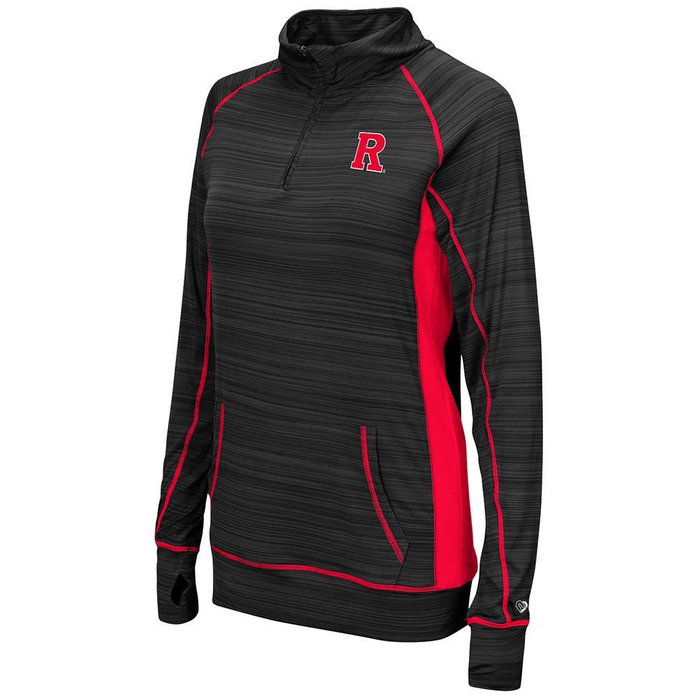 Womens Rutgers Scarlet Knights Quarter Zip Wind Shirt - S
