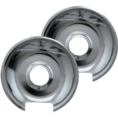 Range Kleen Small Drip Pans Style E Chrome Set Of 2