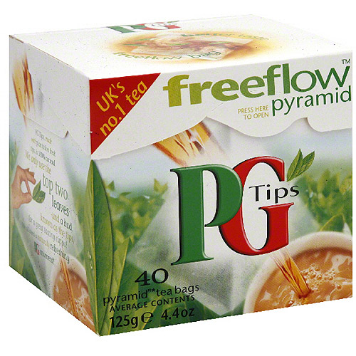 PG Tips Pyramid Tea Bags, 40BG (Pack of 6)