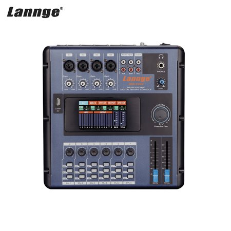 lannge md 2006 portable 6 channel digital mixing console mixer lcd touchscreen built in effects. Black Bedroom Furniture Sets. Home Design Ideas