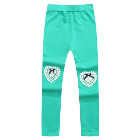 Richie House Girls' Knitting Leggings with Lace at Knee RH1543