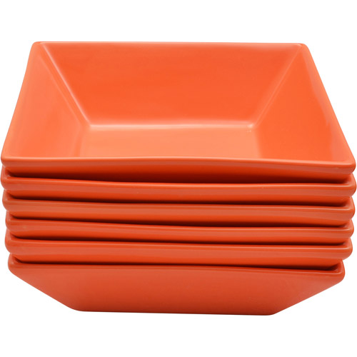 10 Strawberry Street Nova Square Bowls, Set of 6
