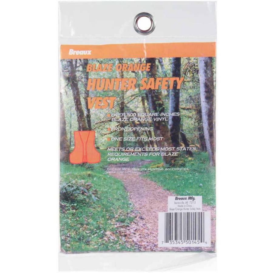 Breaux Blaze Orange Vinyl Safety Hunting Vest