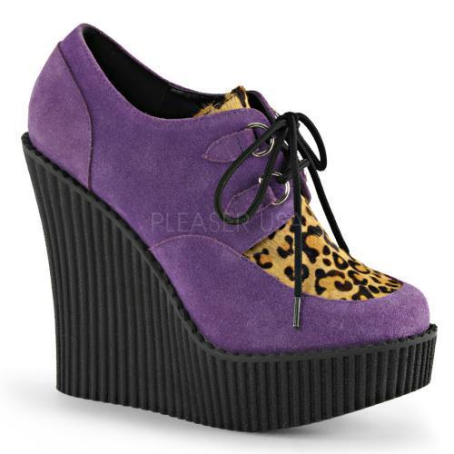 Demonia Creepers Womens CRE304/PPVS-LPPY Size: 7