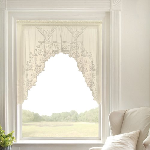 Heritage Lace Heirloom Sheer Swag 70'' Window Valance (Set of 2)