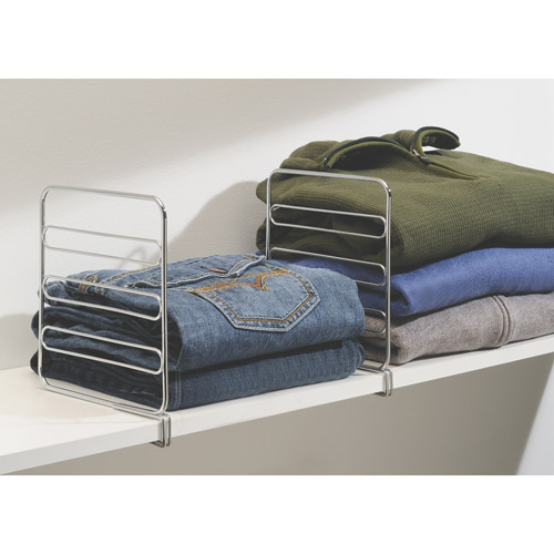 InterDesign Classico Shelf Dividers Storage Organizer-Set of Two
