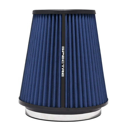 Performance Aid (Spectre Performance HPR9891B Universal Clamp-On Air Filter: Round Tapered; 6 in (152 mm) Flange ID; 8.5 in (216 mm) Height; 7.719 in (196 mm) Base; 5.125 in (130 mm) Top)
