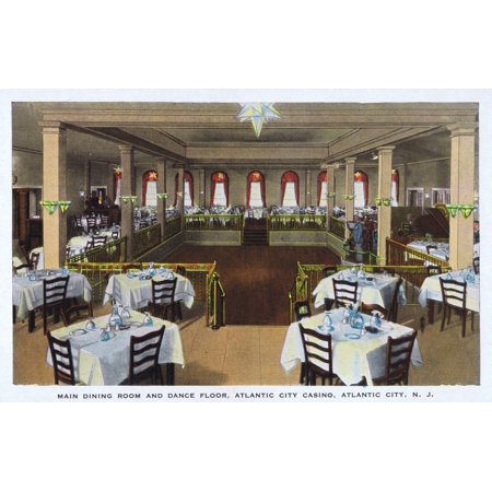 Main Dining Room Atlantic City Usa Poster Print By Mary Evans Jazz Age Club Collection