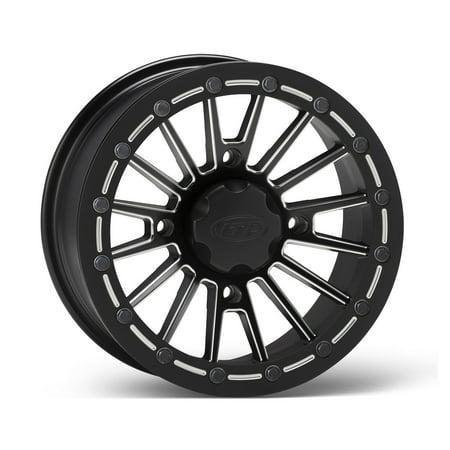 Itp Sd Beadlock Milled Matte Black Atv Wheel Front Rear 14X7 4 137    5 2
