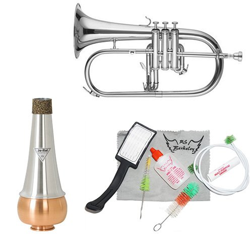 Band Directors Choice Silver Flugelhorn W Essentials Kit by Band Directors Choice Flugelhorns