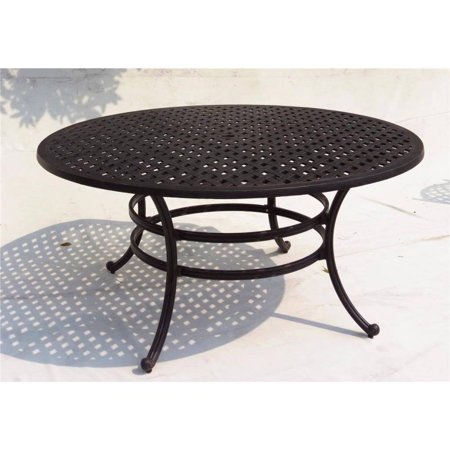 Somette Gathercraft Casa Grande Bronze Inch Outdoor Cast Aluminum - 52 inch round outdoor dining table