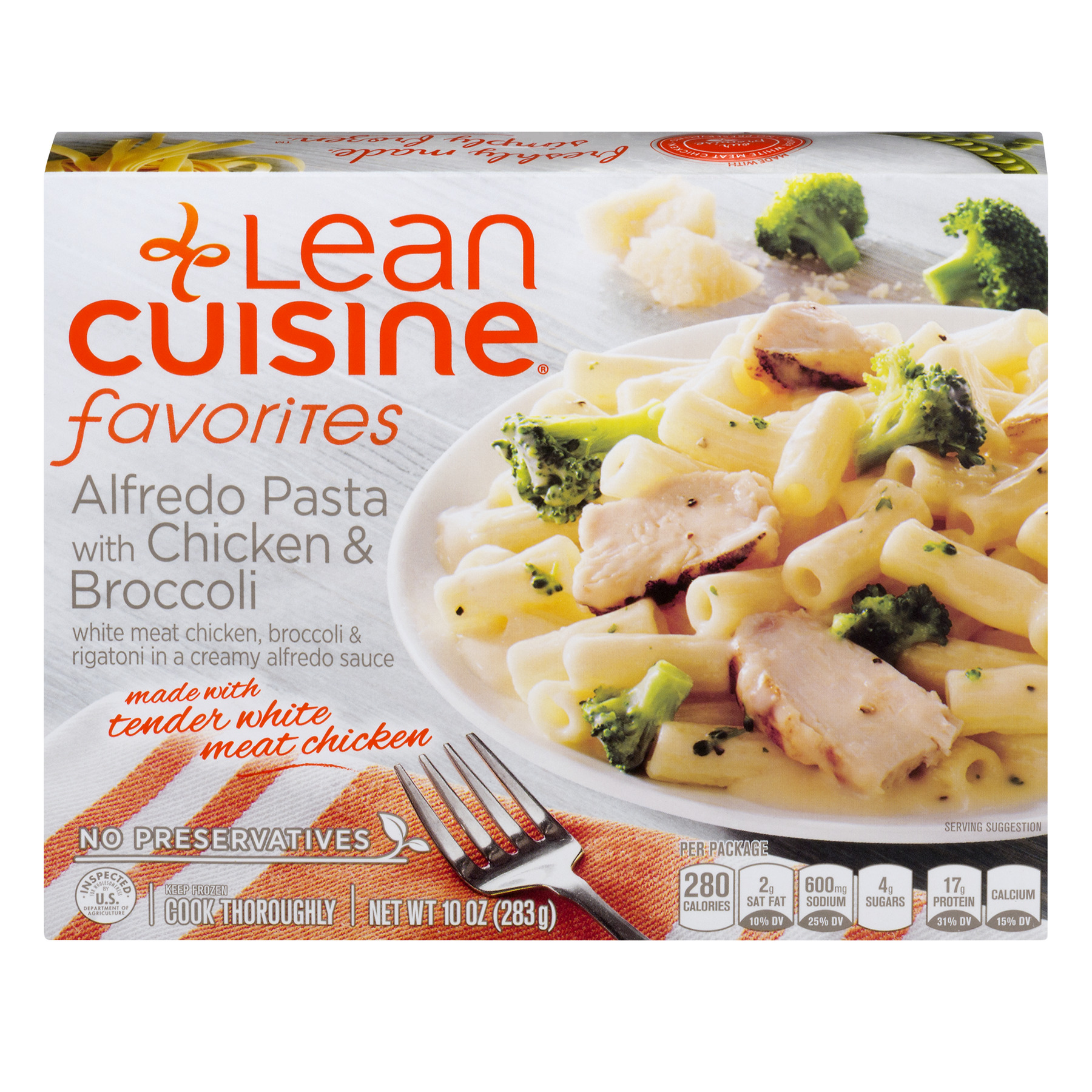 Lean Cuisine Favorites Alfredo Pasta with Chicken & Broccoli, 10.0 OZ