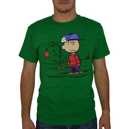peanuts charlie brown christmas tree green licensed t shirt new sizes s 2xl