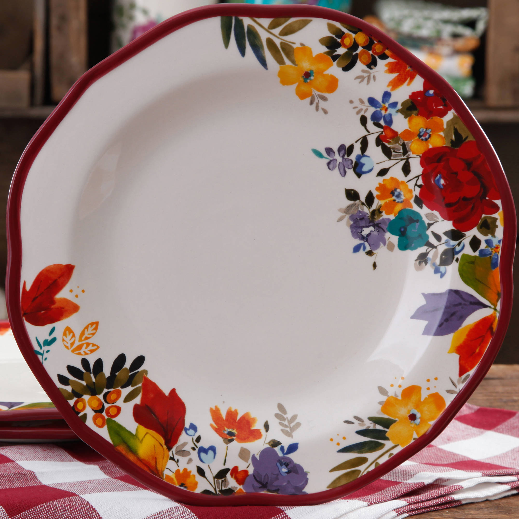 The Pioneer Woman Timeless Floral 11  Dinner Plate & The Pioneer Woman Timeless Floral 11