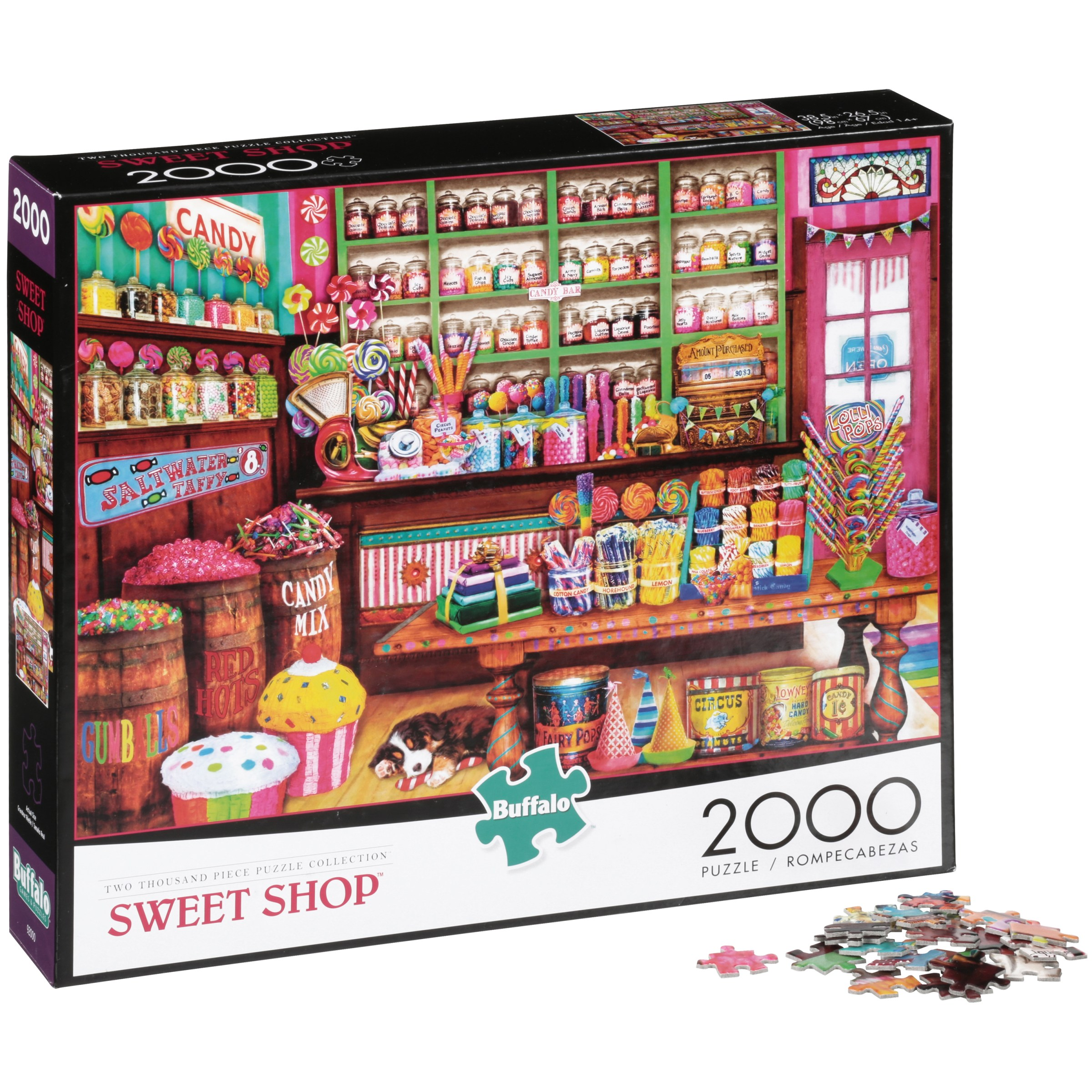 Buffalo Two Thousand Piece Puzzle Collection Sweet Shop Puzzle 2000 pc Box by Buffalo Games, Llc