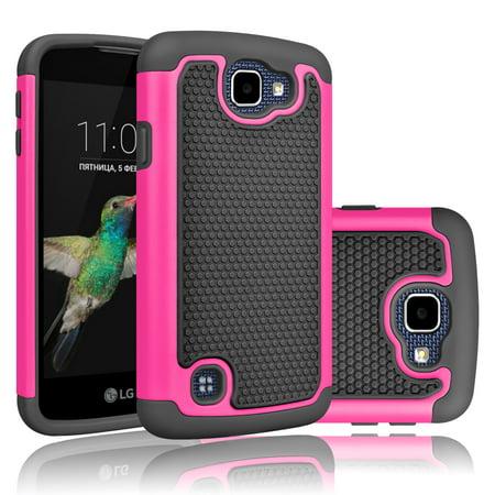 LG K4 Case, LG Optimus Zone 3 Case, LG Spree Case, Tekcoo [Tmajor Series] Shock Absorbing Hybrid Rubber Plastic Impact Defender Rugged Slim Hard Case Cover Shell For LG Rebel LTE (Lg Optimus Slider Cover)