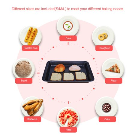 Yosoo 3PCS Non-stick Baking Roasting Trays Cookie Sheet,Cookie Sheet,Cookie Trays - image 5 de 7