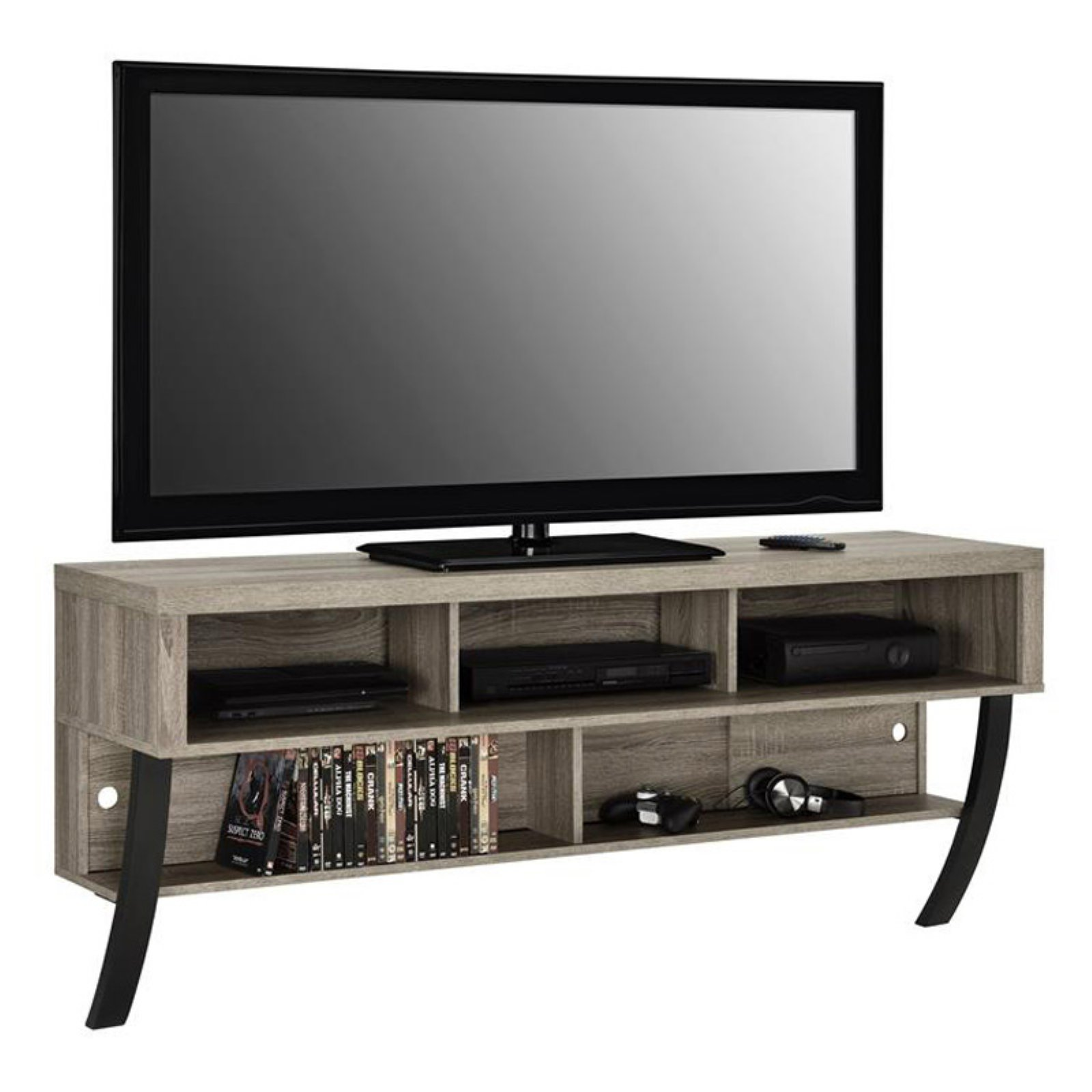 Ameriwood Home Asher Wall Mounted Tv Stand For Tvs Up To 65 Sonoma