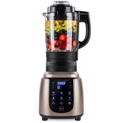 Best Choice Products 1200W 1.8L Multifunctional High-Speed Digital Professional Kitchen Smoothie Blender with Heating Function, Auto-Clean, Glass Jar, Up To 42,000RPM, Gold