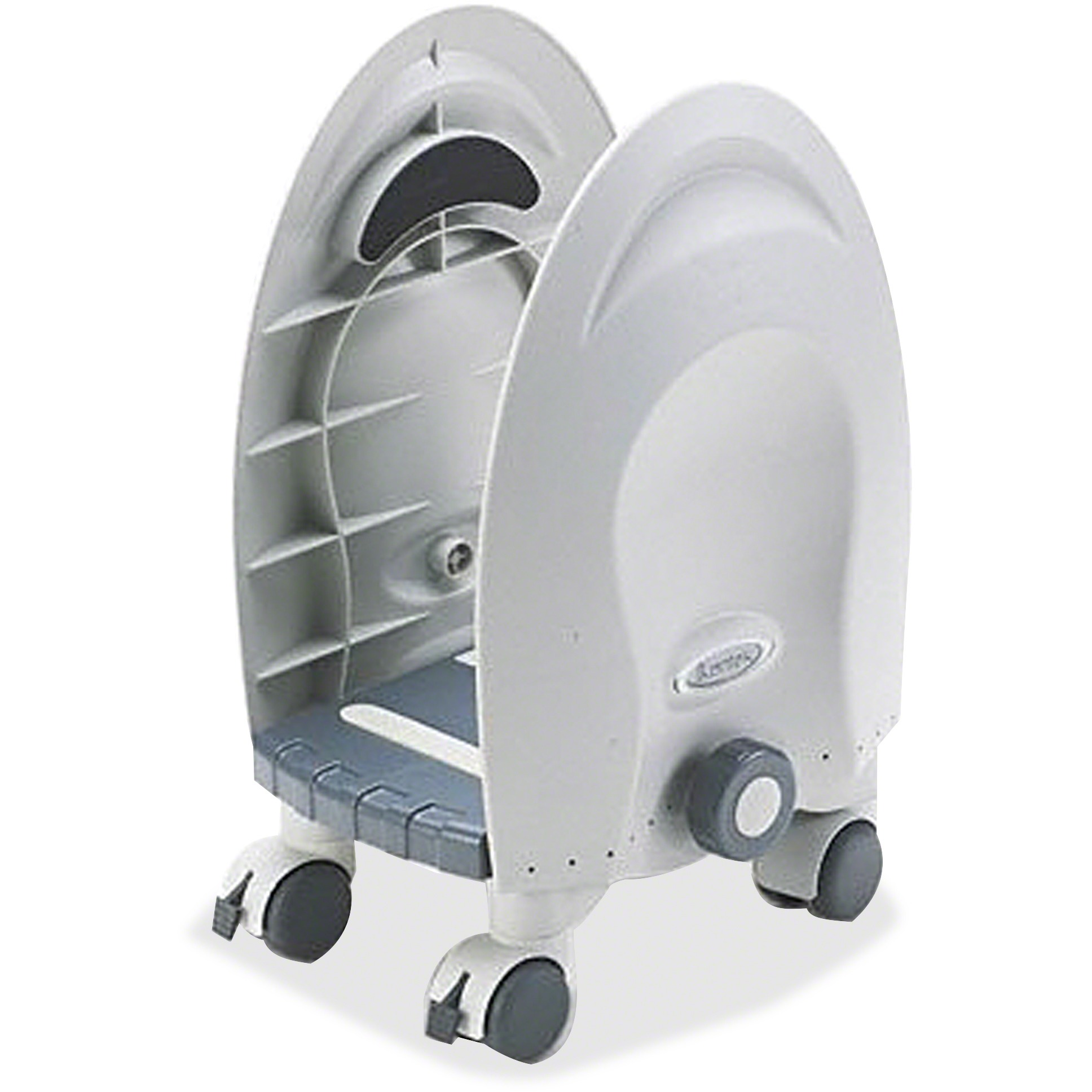 Kantek Deluxe Adjustable CPU Stand, Gray