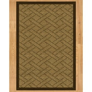 Natural Area Rugs Tempo Hand Crafted Brown Area Rug
