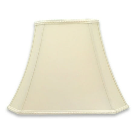 Rectangle Bell (Royal Designs  Rectangle Bell Cut Corner Designer Lampshade - Eggshell - (6.25 x 8) x (11 x 16) x 12 )