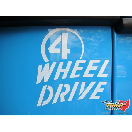 Jeep Wrangler Chief 4 WHEEL DRIVE White Sticker Decal Emblem Mopar OEM
